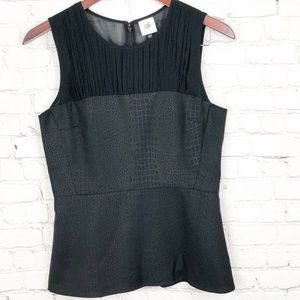 CAbi | Black Sleeveless Bustier Top | #3080 | SZ 2